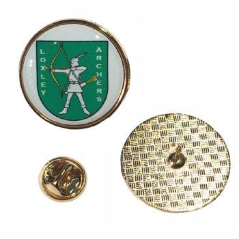 27mm premium gold badge clutch